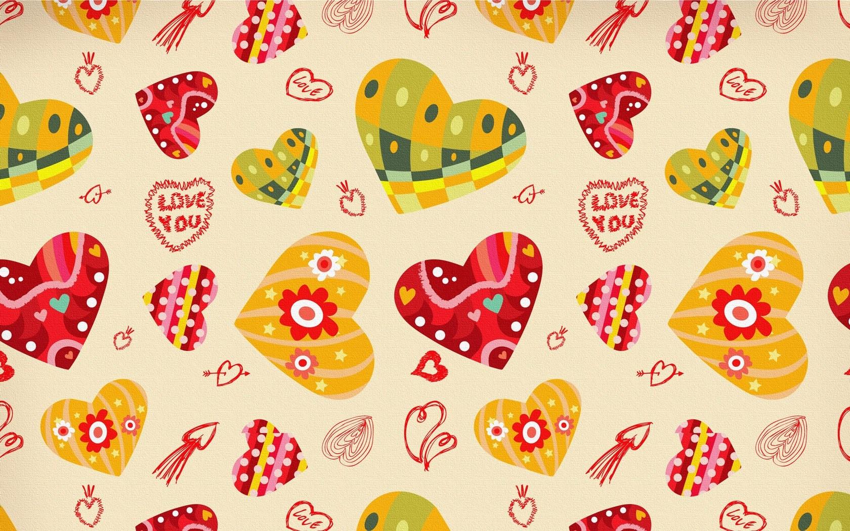 Love Art Hearts Wallpapers 1680x1050 675655