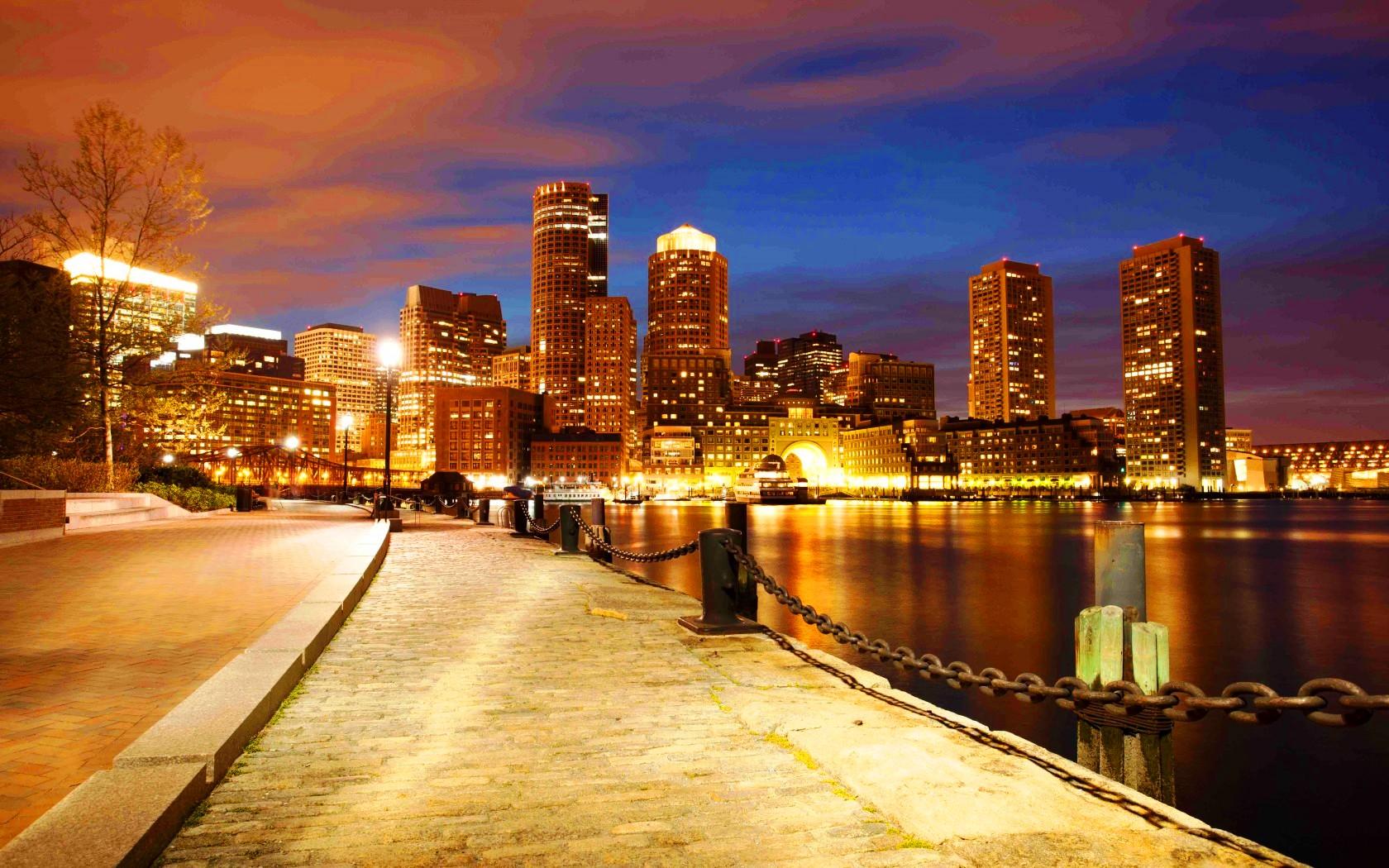 Massachusetts Boston City Wallpapers