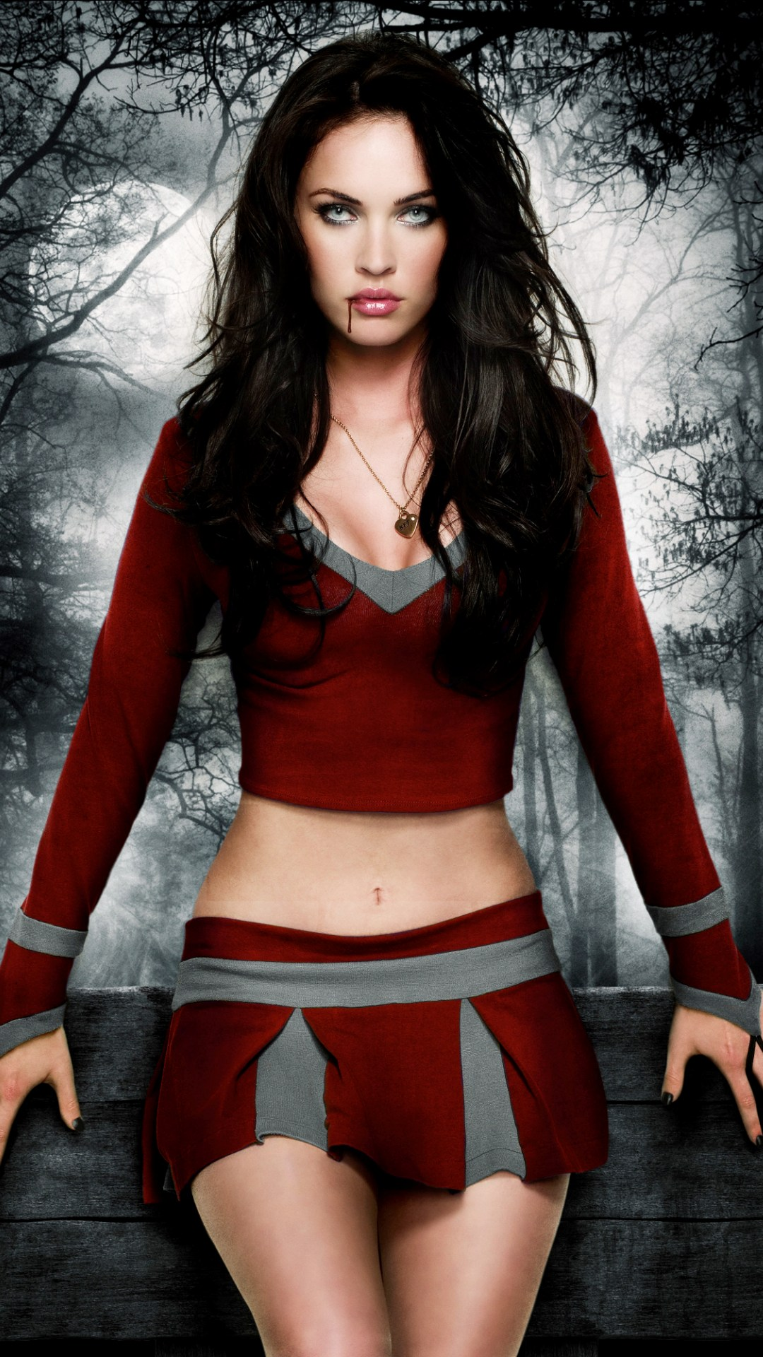 megan fox with red blood wallpapers - 1080x1920 - 476618