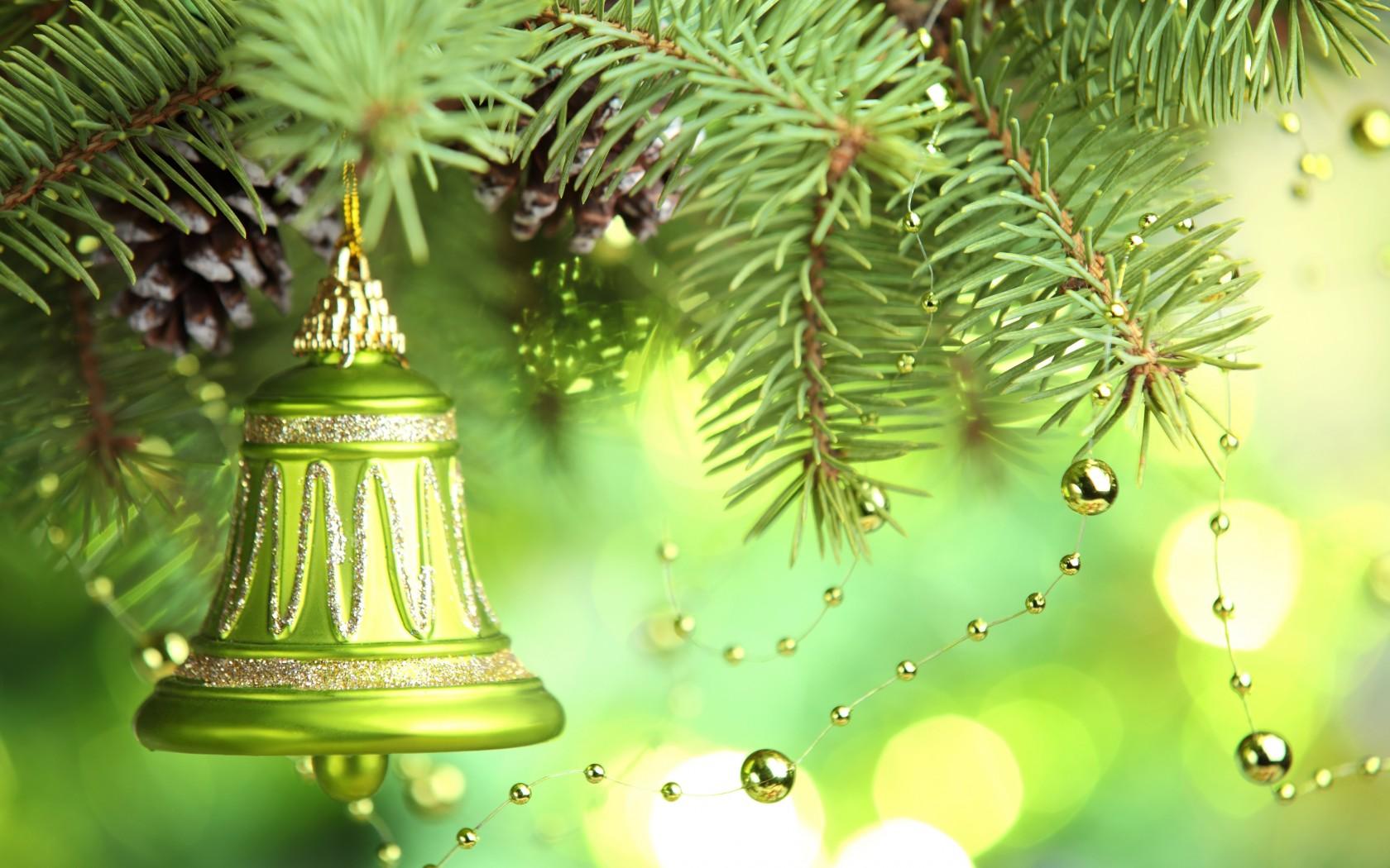 Christmas Green.Merry Christmas Green Bells Wallpapers 1680x1050 335188