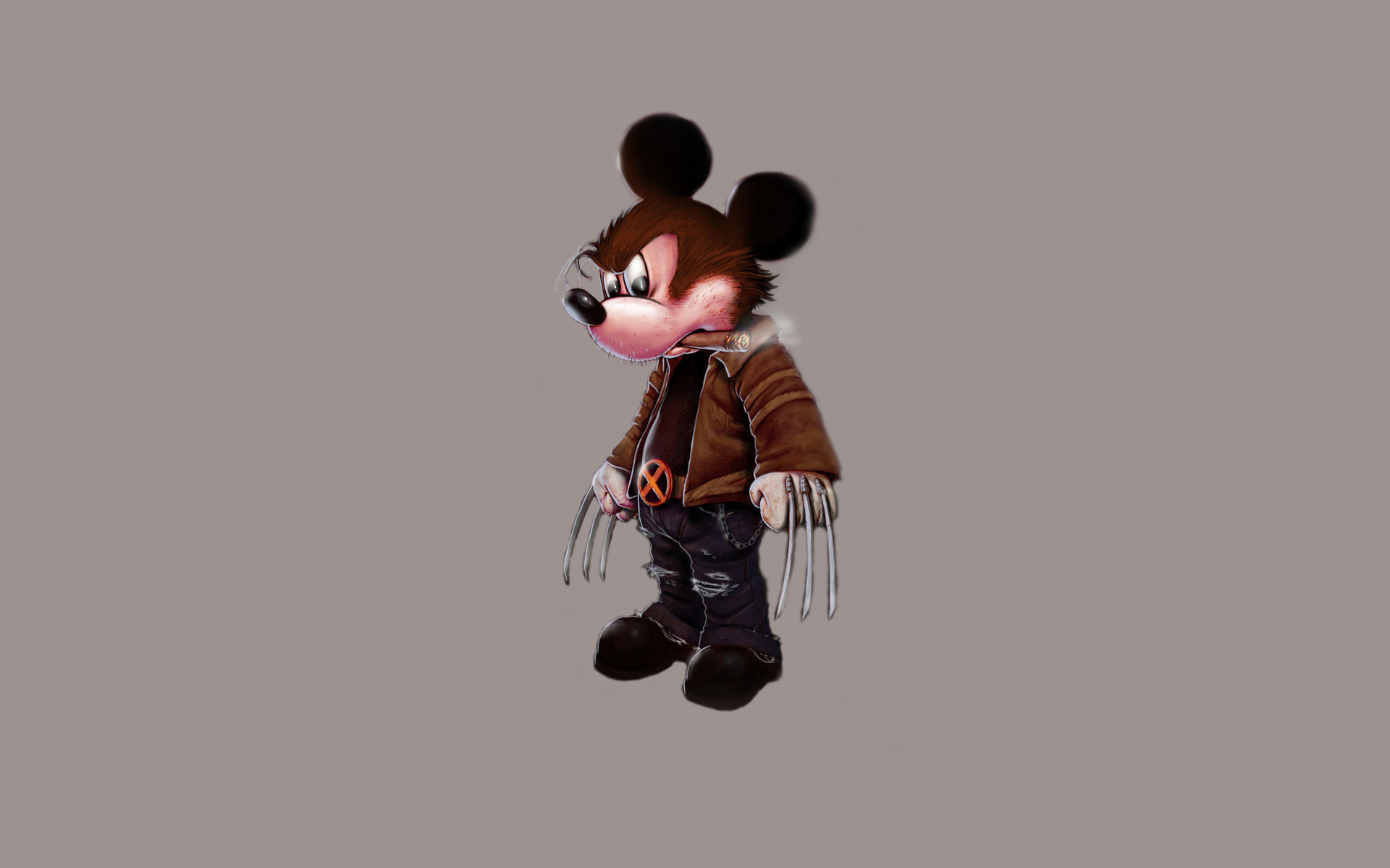 Mickey Mouse As Wolverine