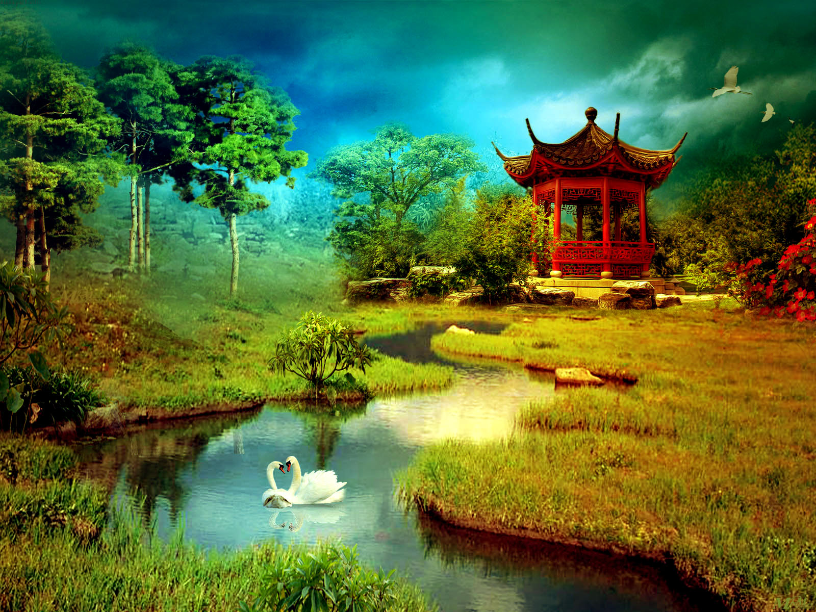 Nature digital art wallpapers 1600x1200 489598 for Exclusive 3d wallpaper