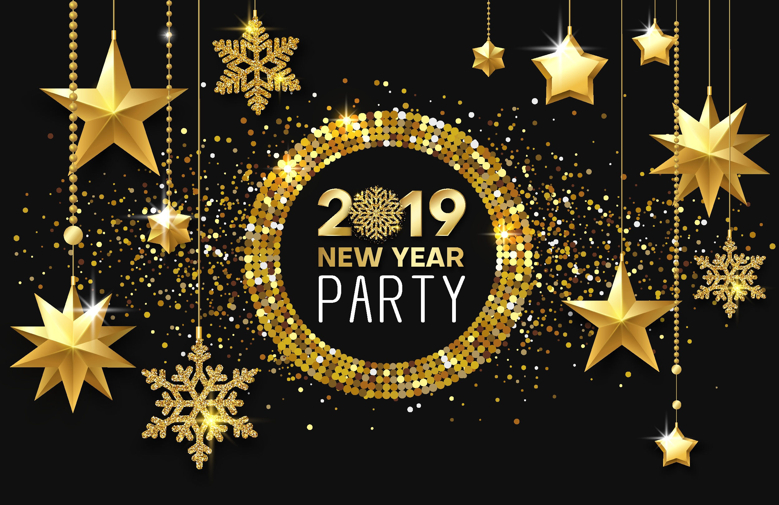 New Year Party Gold 2019