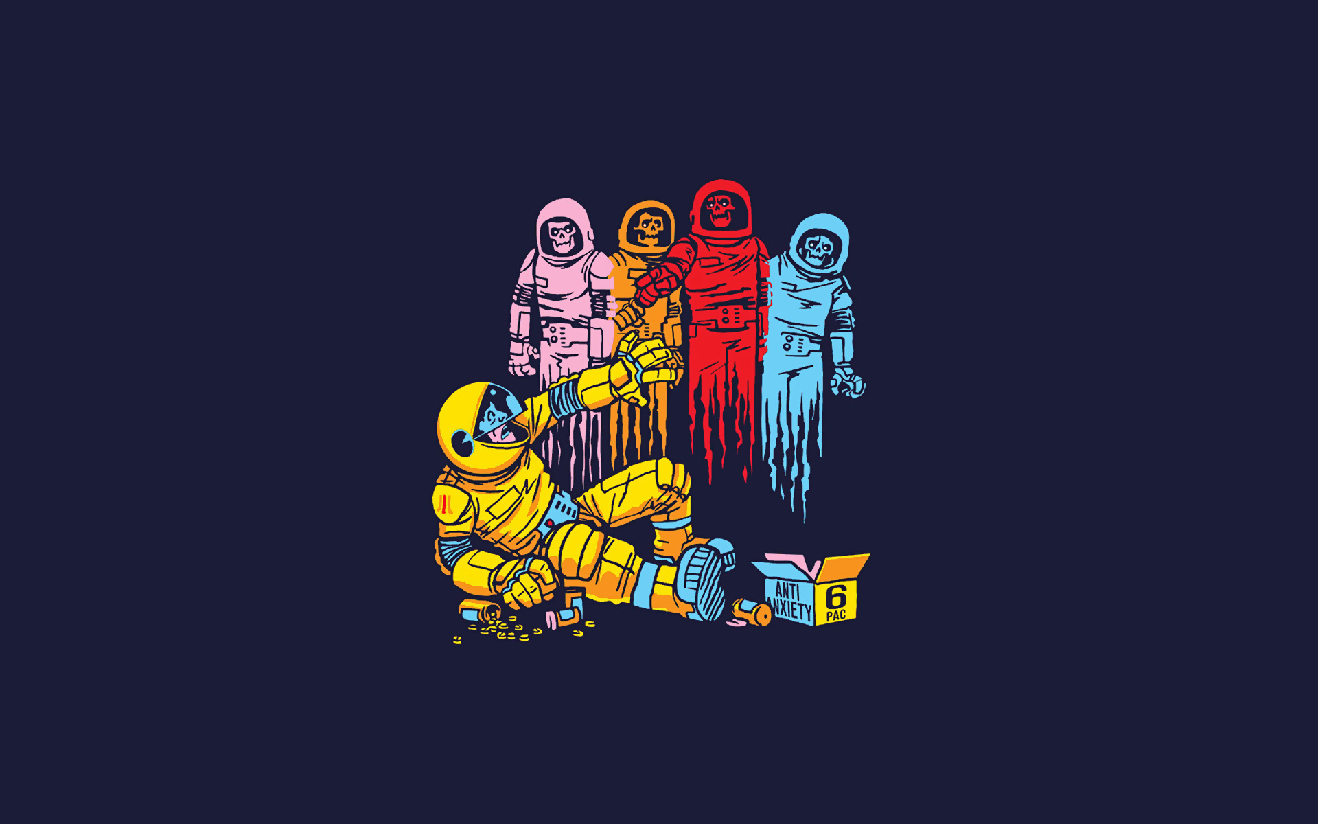 Pac man cosplay gaming for Drugs in space