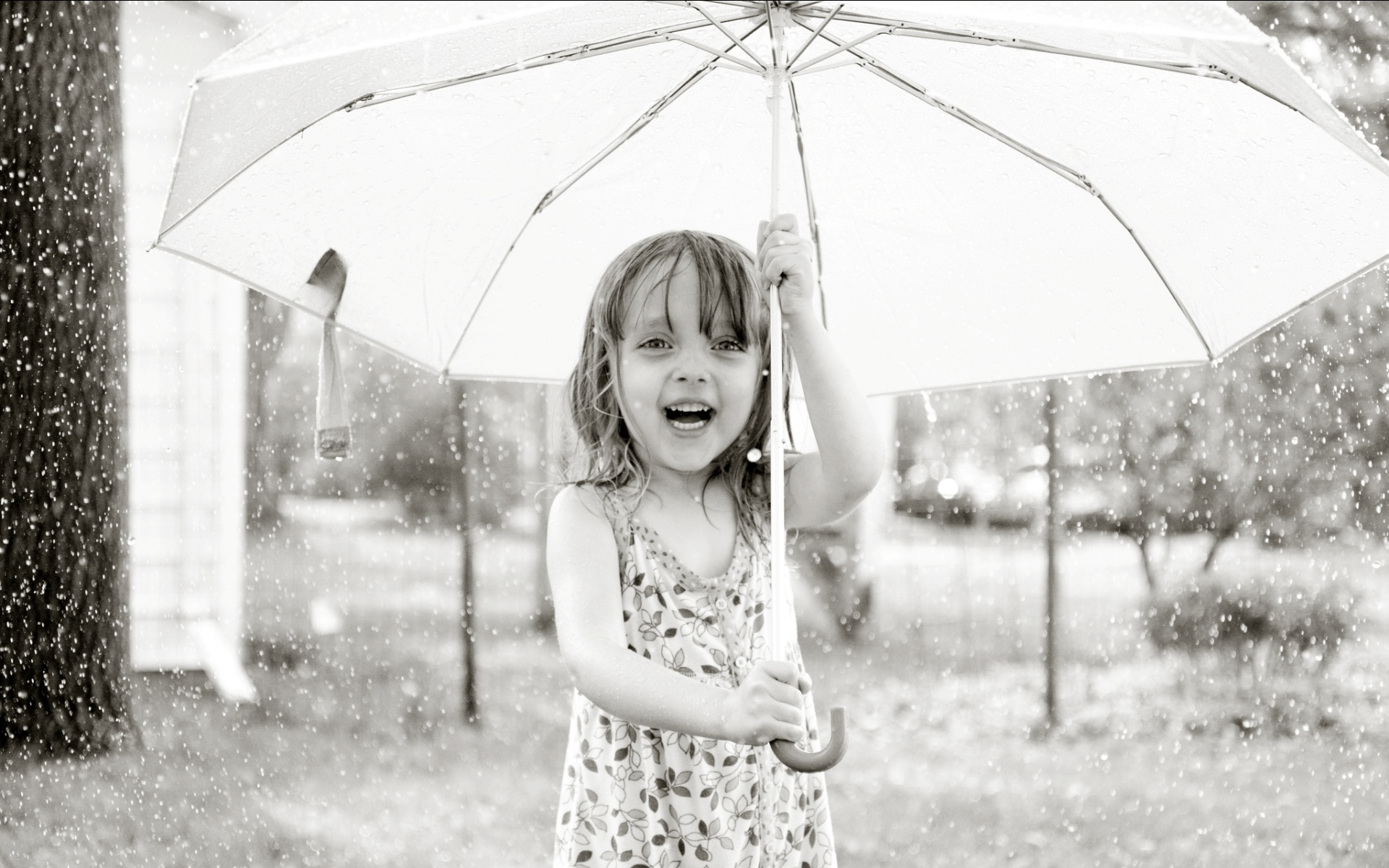 Rain baby with white umbrella click to view