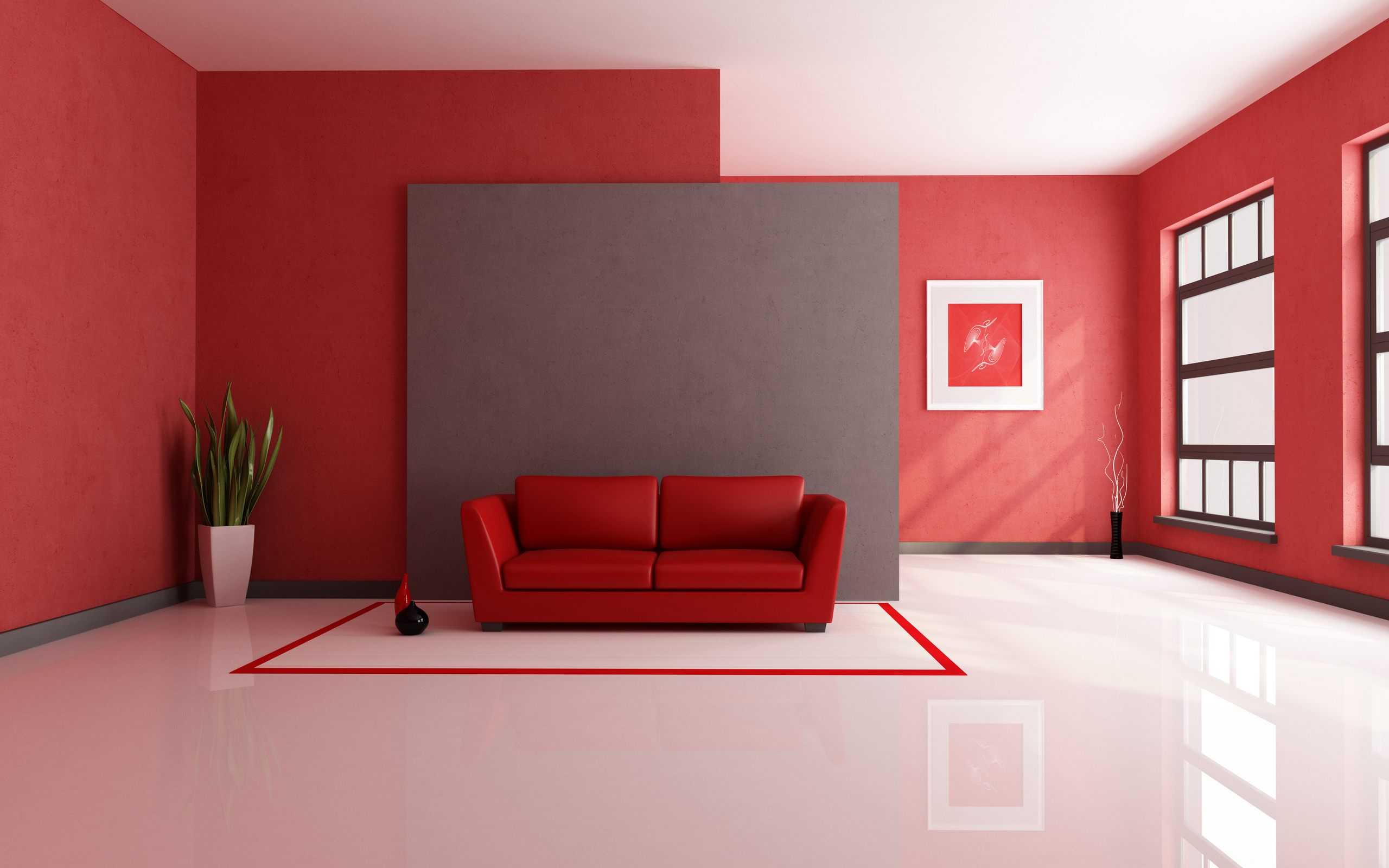 Red Interior Design | 2560 x 1600 | Download | Close