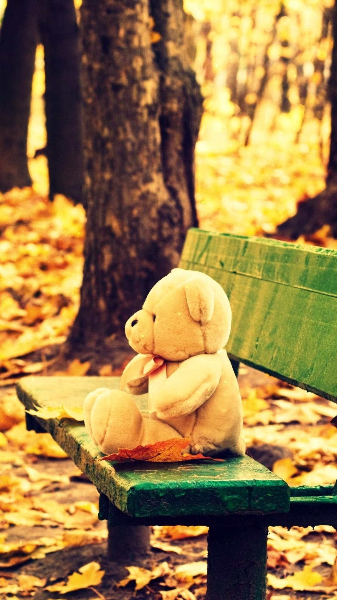 sad alone teddy bear wallpapers