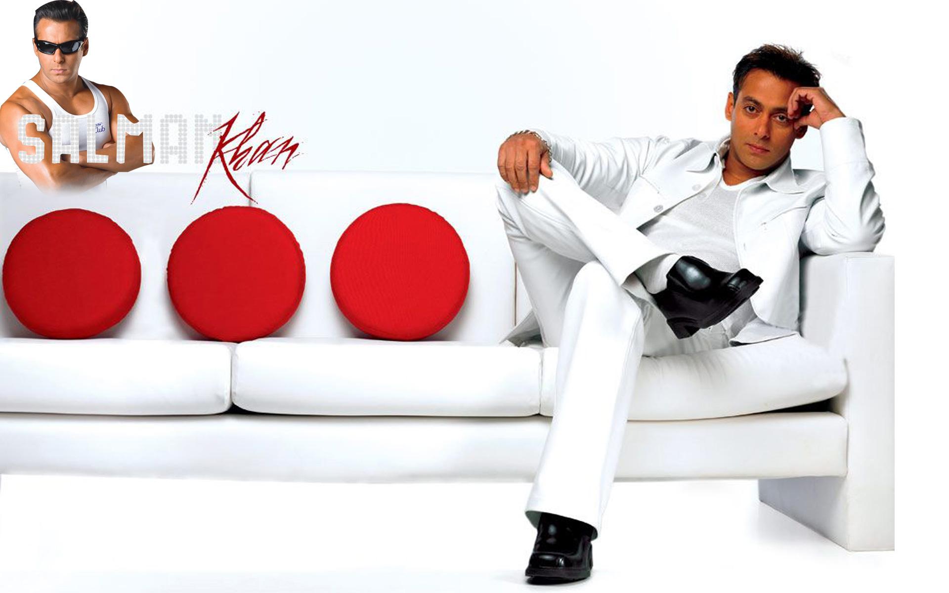 Salman Khan Sitting On Sofa