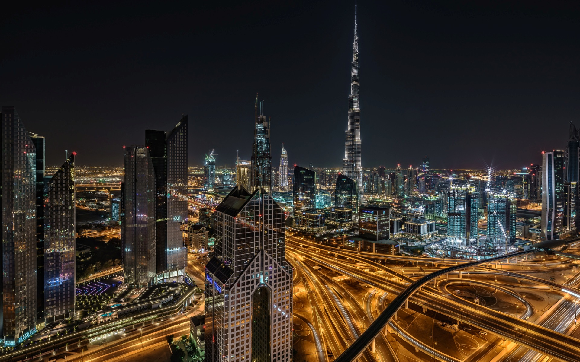 Skyline Of Dubai With A View To Burj Khalifa