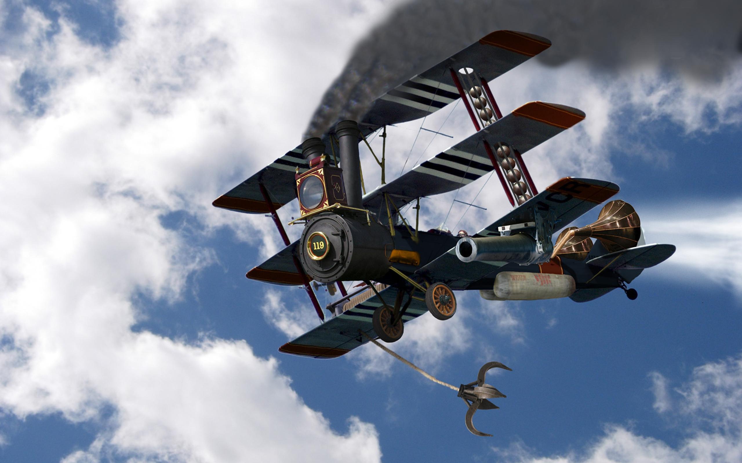 Steampunk Aircraft Wallpapers  2560x1600 1518296