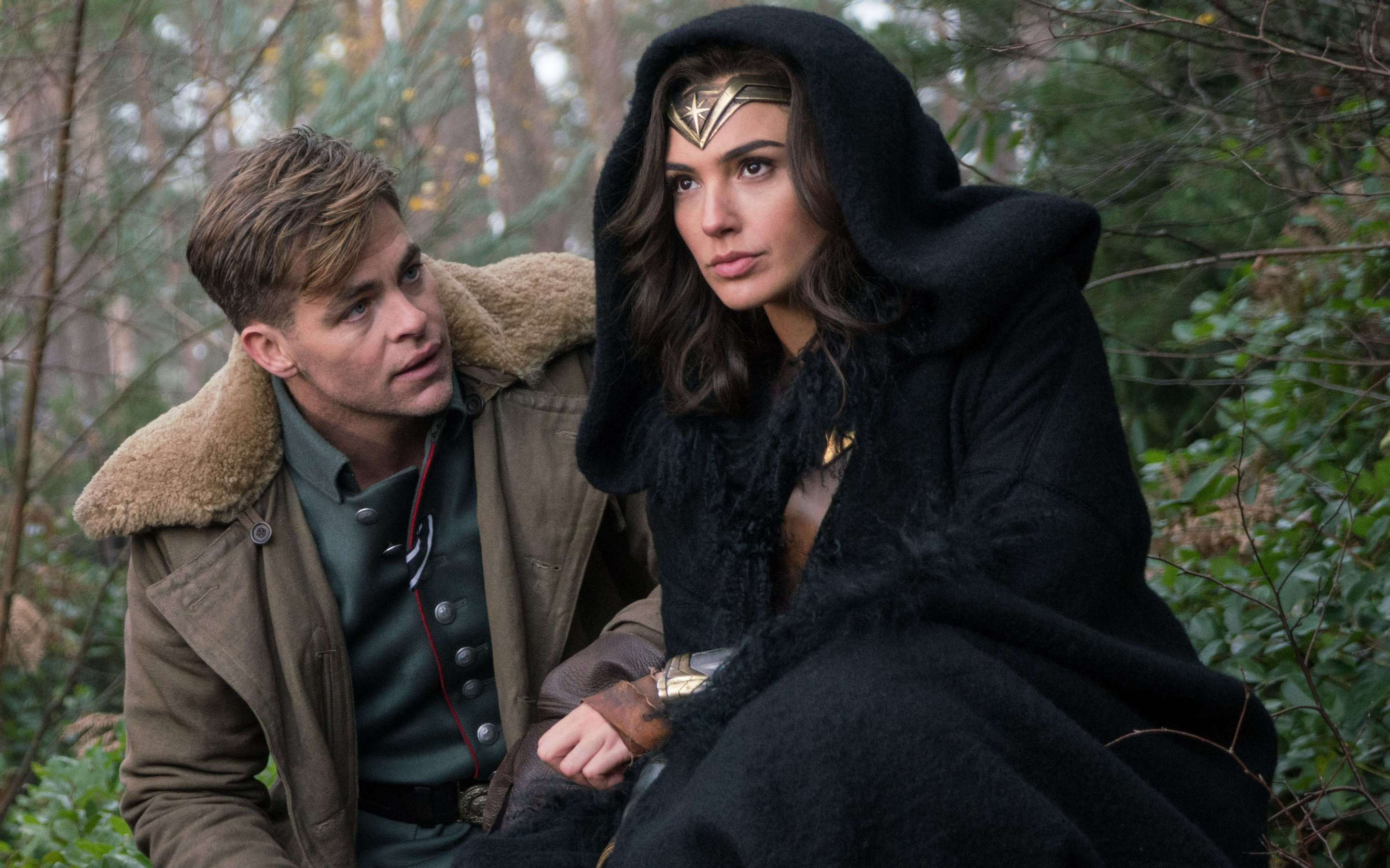 Steve Trevor And Diana Prince In Wonder Woman Click To View