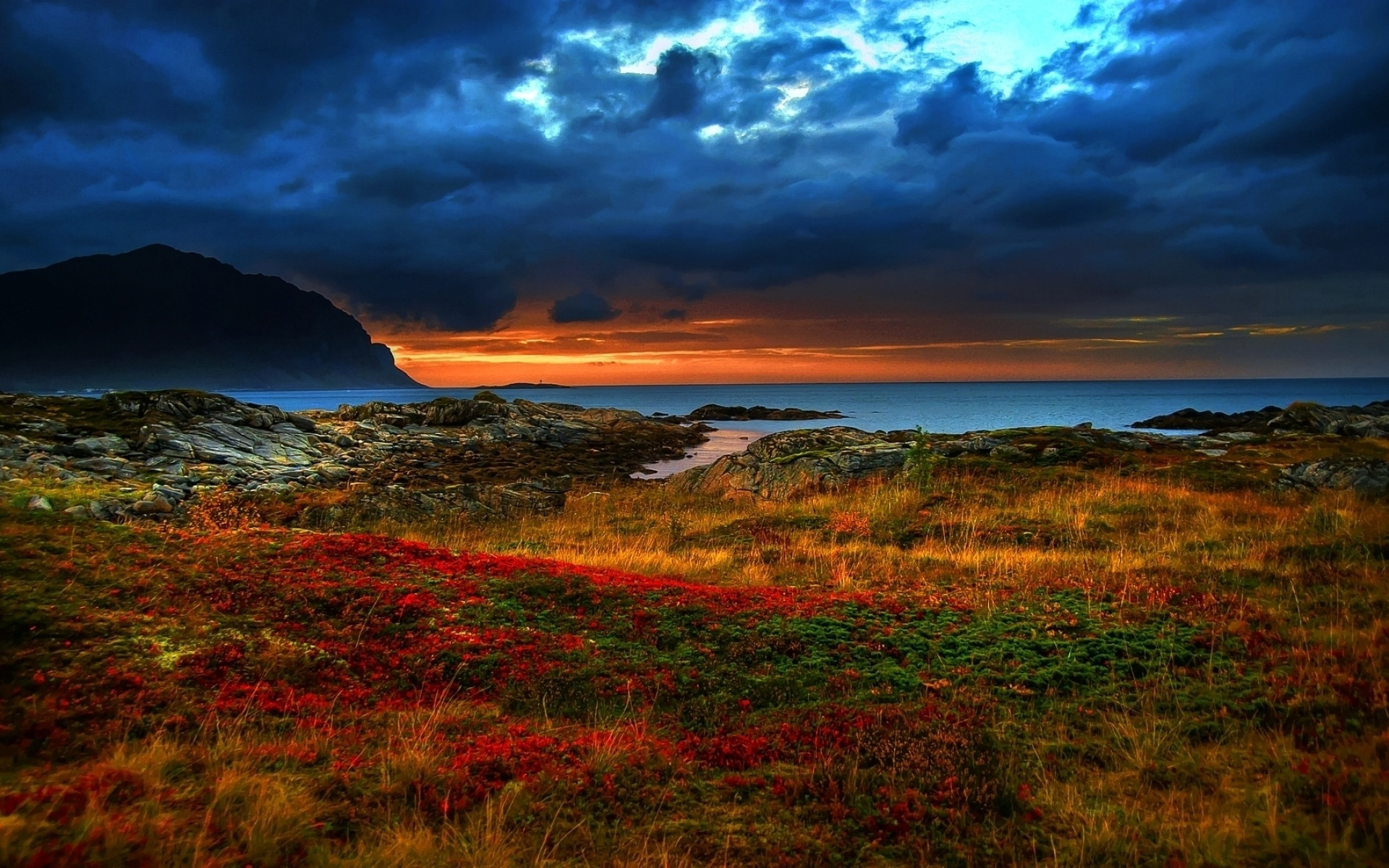 Sunrise Over The Sea In Spring