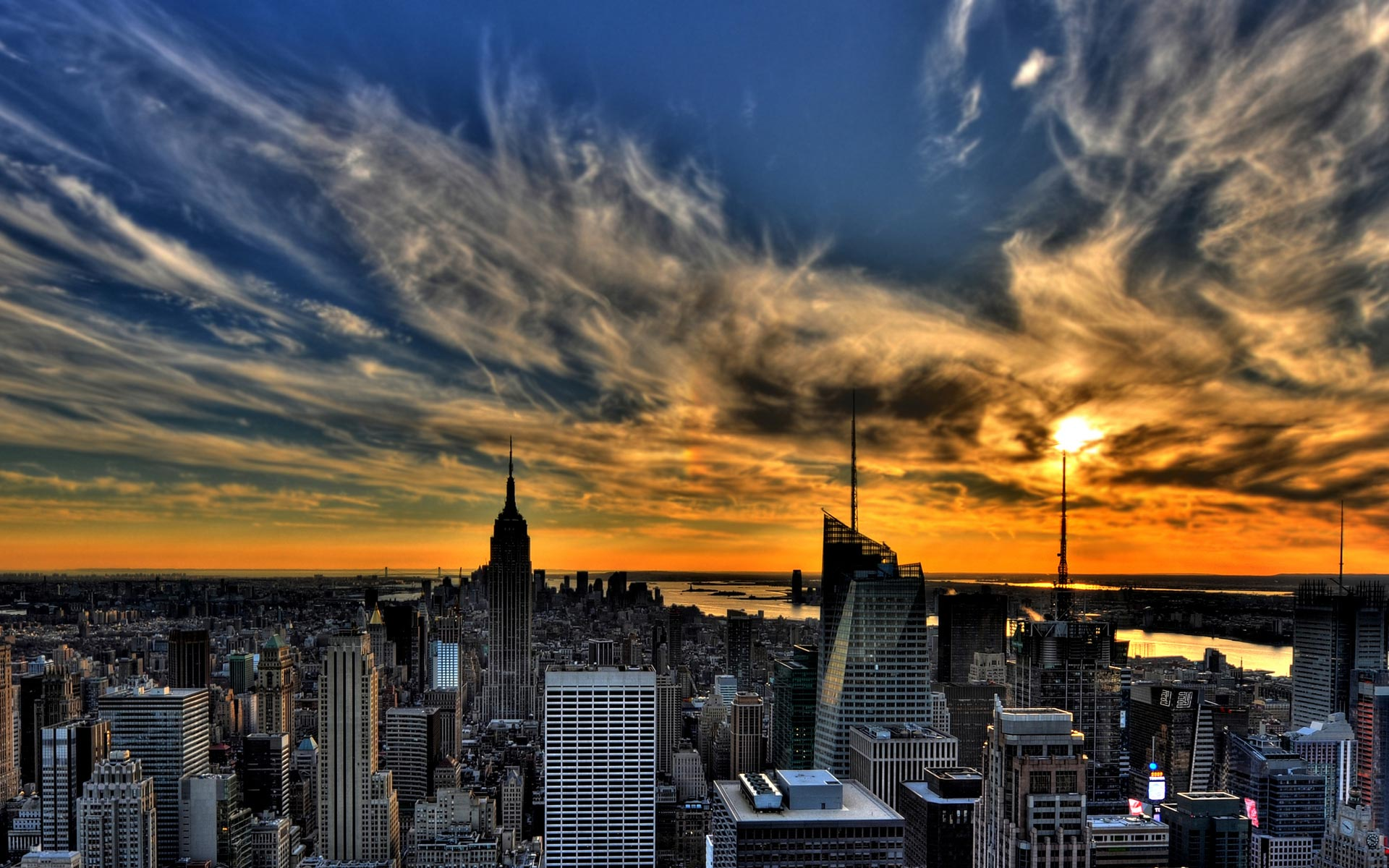 Sunset in new york 1920 x 1200 download close
