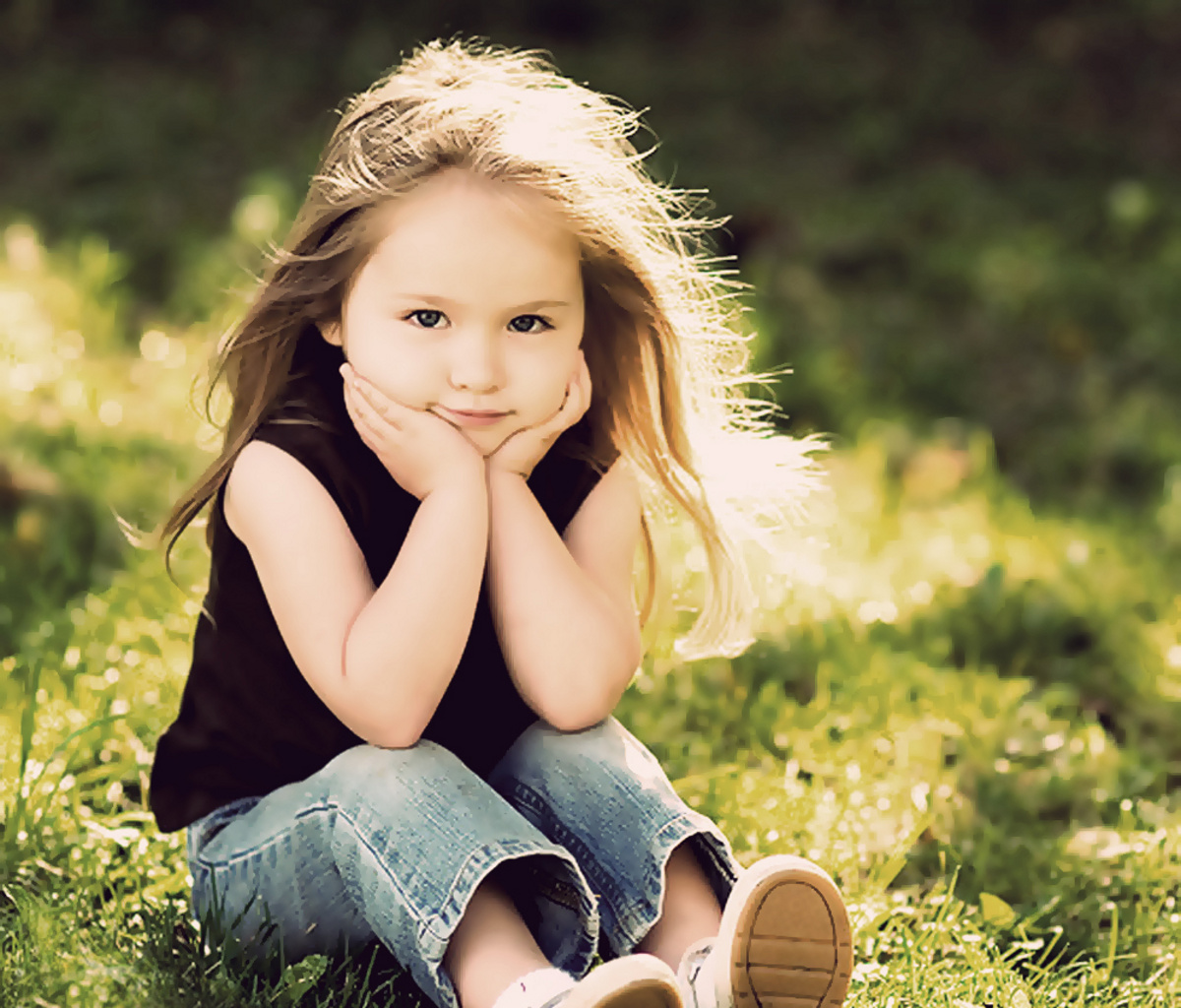 Sweet lady wallpapers 1200x1024 460507 - Cute little girl pic hd ...