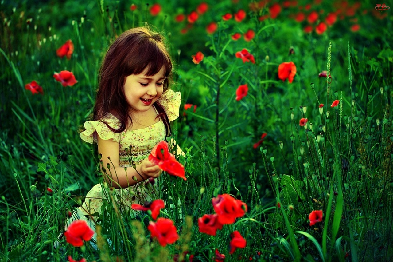 Sweet Little Girl In Garden Click To View