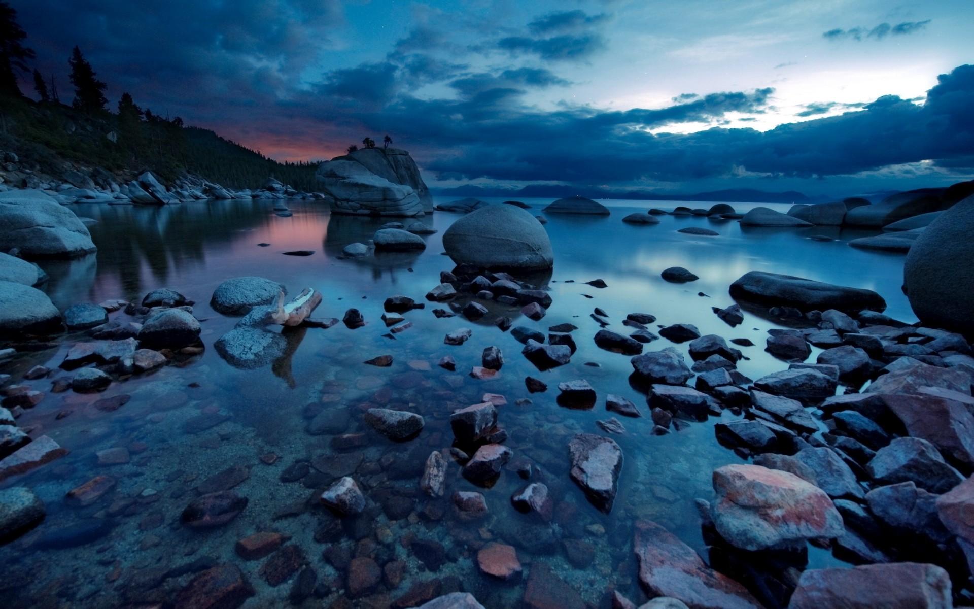 The Dark Lake Sunset  Download Close