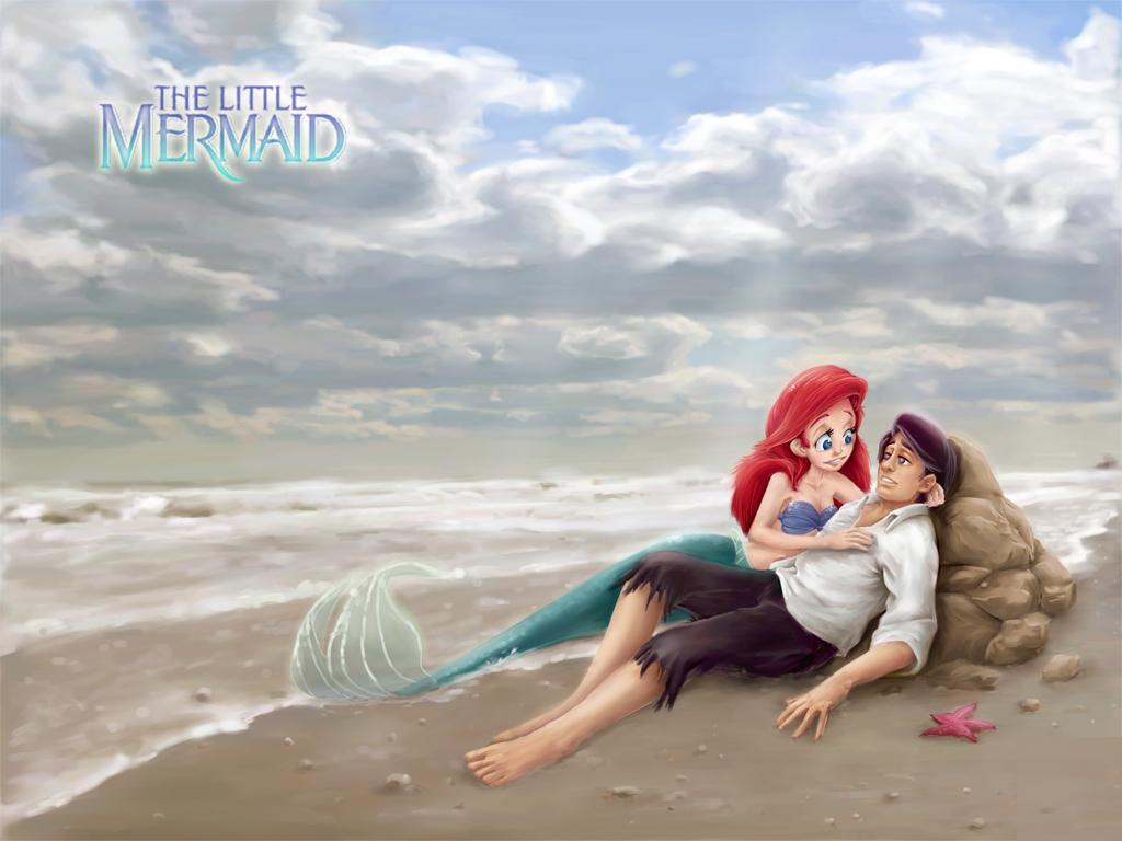 the little mermaid cartoon wallpapers