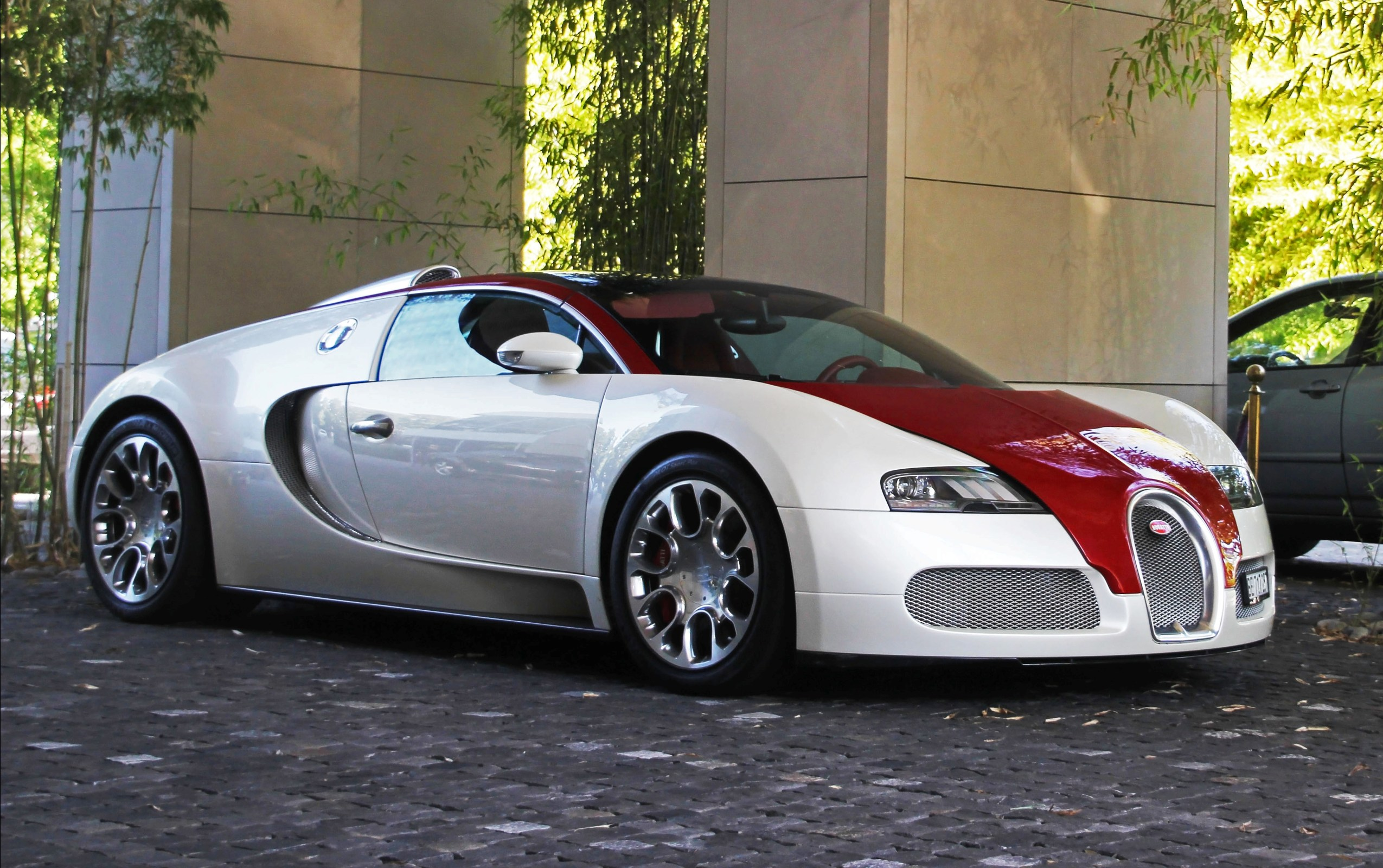 White And Red Bugatti Veyrons
