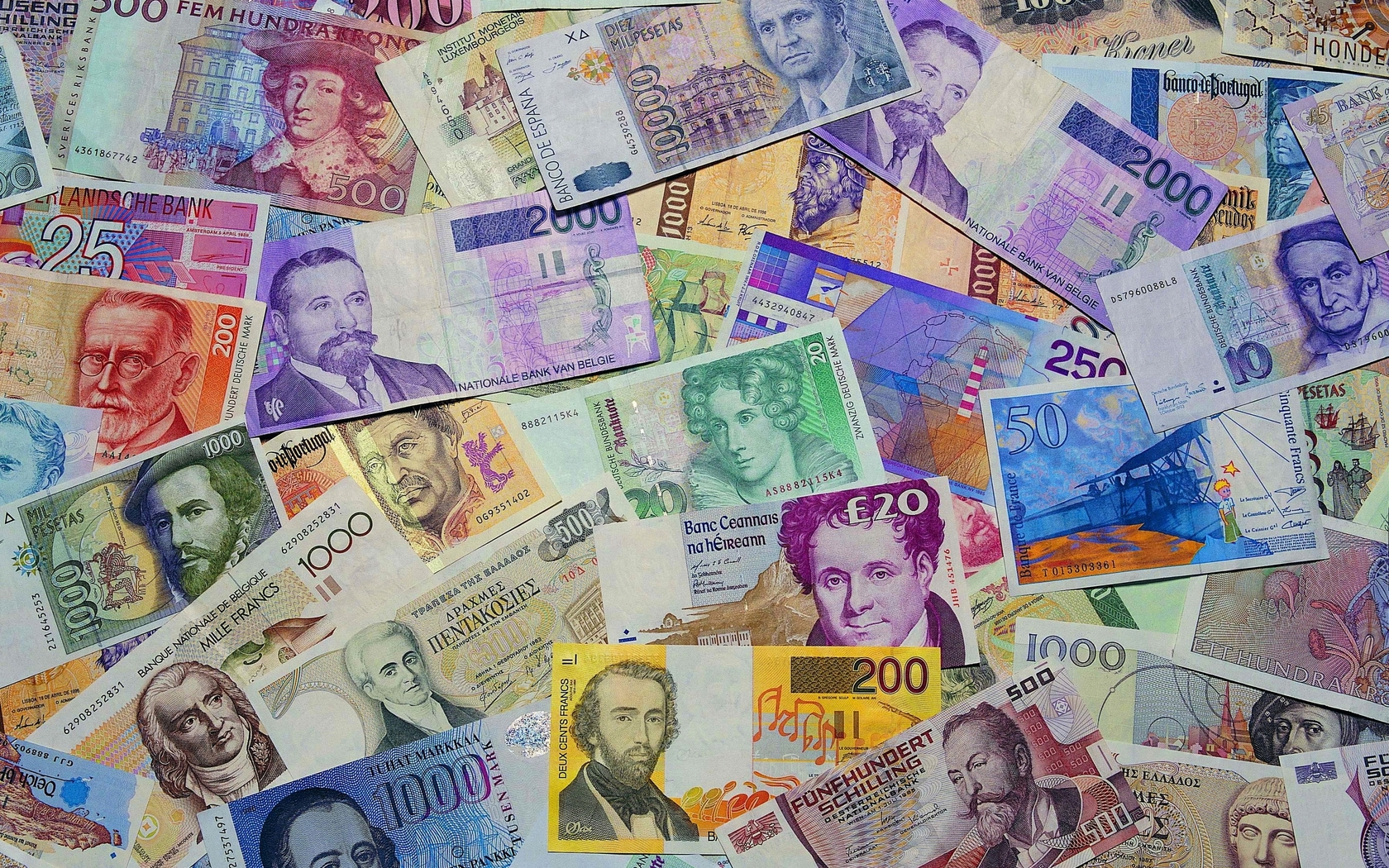 World currency notes | 1680 x 1050 | download | close